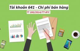 Hạch toán tài khoản 641 - Chi phí bán hàng theo thông tư 200