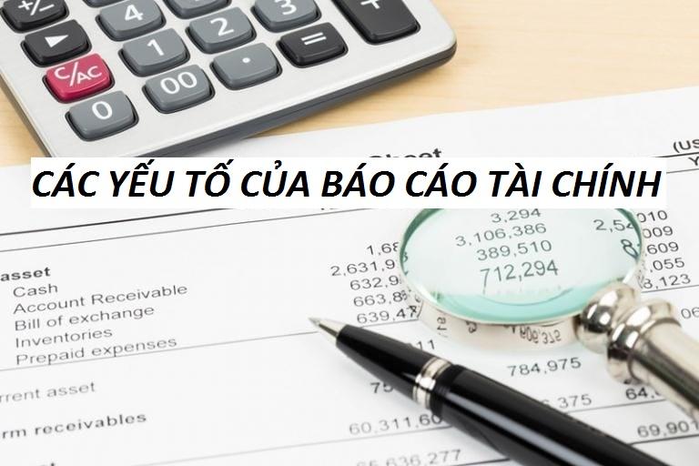Các yếu tố của báo cáo tài chính