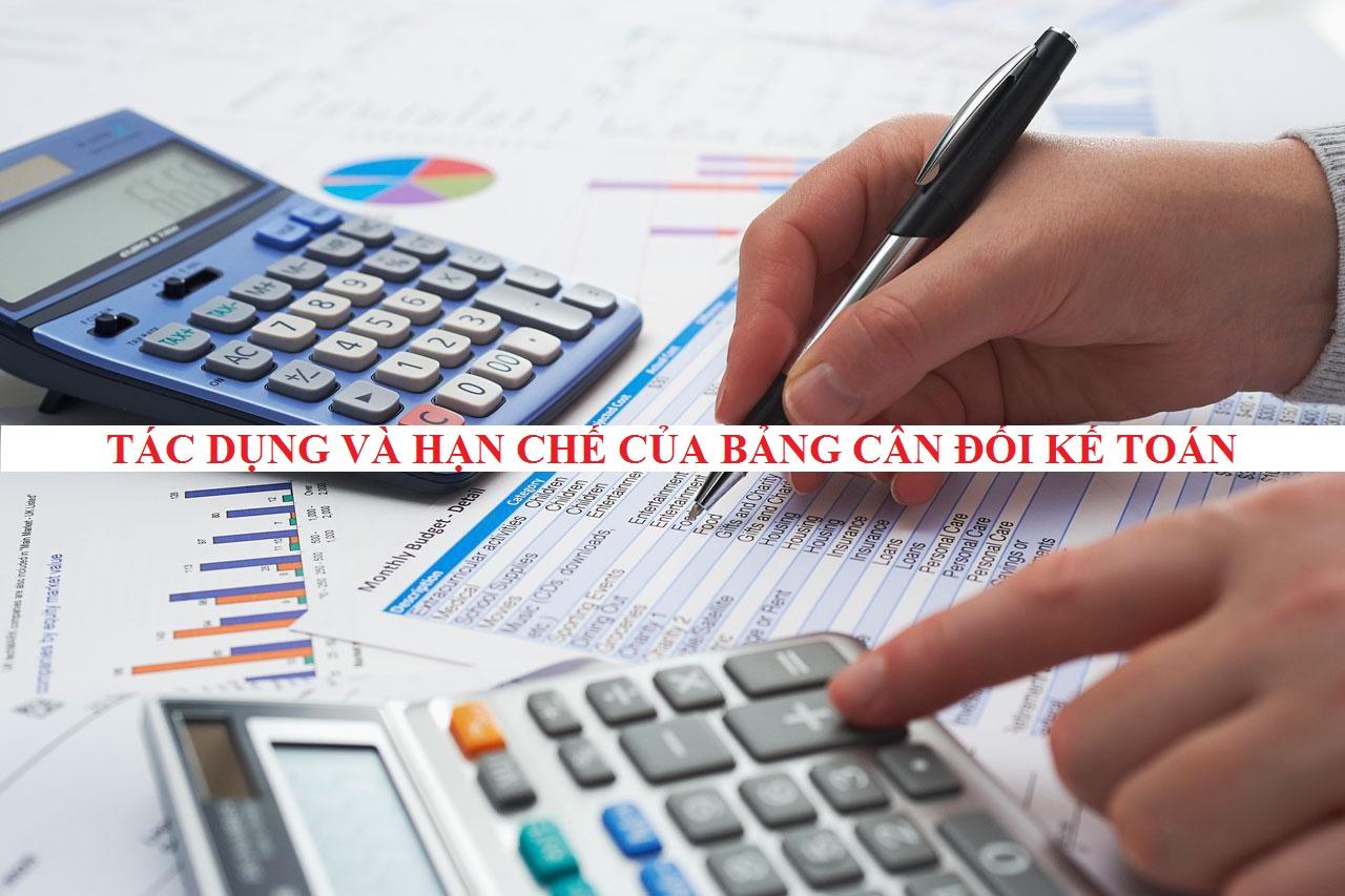 Tác dụng và hạn chế của bảng cân đối kế toán