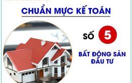 chuẩn mực lế toán số 05- bất động sản đầu tư