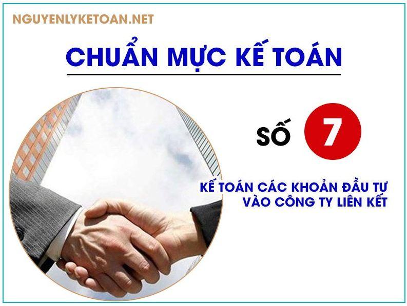 chuẩn mực kế toán số 07-kế toán các khoản đầu tư vào công ty liên kết